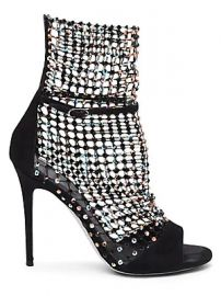 Rene Caovilla - Galaxia Crystal Mesh Suede Sandals at Saks Fifth Avenue