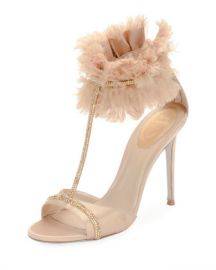 Rene Caovilla T-Strap Sandal with Ankle Cuff at Neiman Marcus