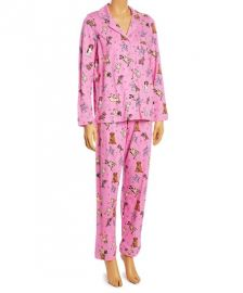 Rene Rofe Pink Dogs Button-Up Pajama Set at Zulilly