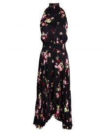 Renzo Floral Pleated Midi Dress at Intermix