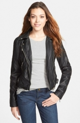 Research andamp Design Faux Leather Biker Jacket at Nordstrom