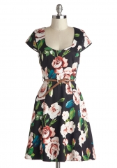 Retreat to the Rose Garden Dress at ModCloth