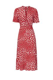 Retro Dots Twist Front Dress by Nicole Miller at Rent The Runway