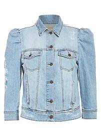 Retrof  te - Ada Puff-Sleeve Denim Jacket at Saks Fifth Avenue
