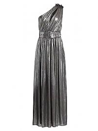 Retrof  te - Andrea Belted One-Shoulder Metallic Maxi Dress at Saks Fifth Avenue