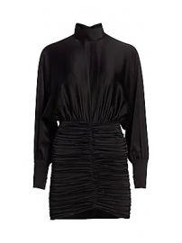 Retrof  te - Barbara Dolman-Sleeve Ruched Mini Dress at Saks Fifth Avenue
