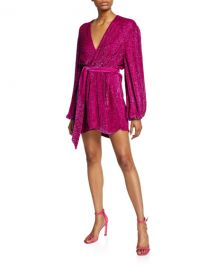 Retrofete Gabrielle Sequined Wrap Dress at Neiman Marcus