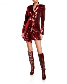 Retrofete Selena Sequin Double-Breasted Jacket Dress w  Asymmetric Hem at Neiman Marcus