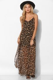 Reverse Leopard Print Maxi Dress at Urban Outfitters