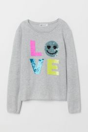 Reversible-sequin Sweater at H&M