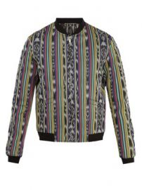 Reversible striped cotton-blend bomber jacket at Matches