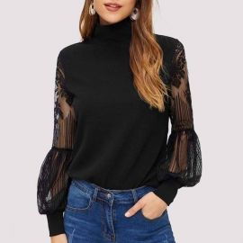 Reyna Puff Sleeve Sweater at Sonja