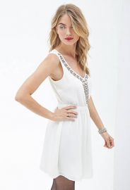 Rhinestone beaded dress at Forever 21