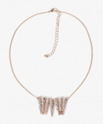 Rhinestone spiked necklace at Forever 21