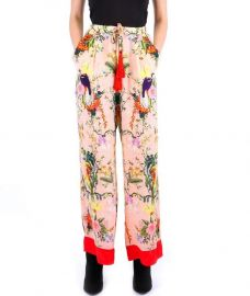 Rhobh Kyle Silk Pant In Bird Print by  Kyle x Shahida at Kyle x Shahida