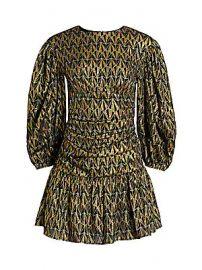 Rhode - Donna Metallic Print Puff-Sleeve Mini Dress at Saks Fifth Avenue