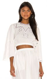 Rhode Casper Top in Ivory With Embroidery from Revolve com at Revolve