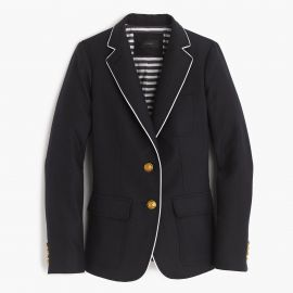 Rhodes blazer in tipped linen in Navy at J. Crew