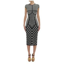 Rhombic Pearl Jacquard Knit Pencil Dress by Alexander McQueen at Matches
