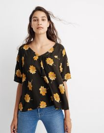Rhyme Top in Fall Flowers at Madewell