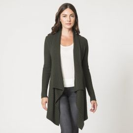Rib Drape in Cypress at Autumn Cashmere