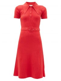 Rib-Knit Cotton-Blend Belted Sweaterdress by JoosTricot  at Matches