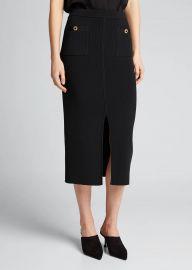 Rib-Knit Front-Slit Midi Skirt by Jonathan Simkhai at Bergdorf Goodman