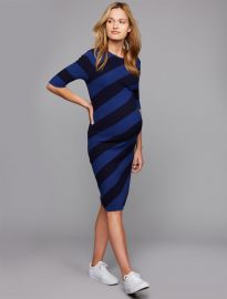 Rib Knit Knee Length Maternity Dress by A Pea in the Pod at A Pea in the Pod