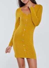 Rib Knit Long Sleeve Bodycon Dress at Rainbow