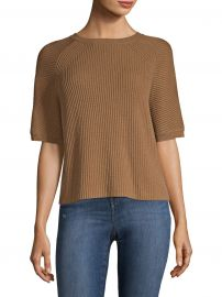 Ribbed Split Back Sweater at Saks Fifth Avenue