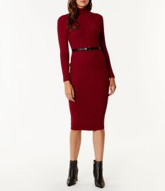 Ribbed Fitted Knit Dress at Karen Millen