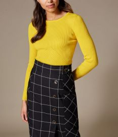 Ribbed Fitted Top at Karen Millen