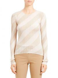 Ribbed Intarsia Diagonal Stripe Pullover at Saks Fifth Avenue