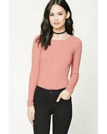 Ribbed Knit Bodysuit   at Forever 21