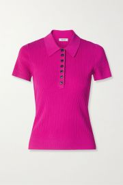 Ribbed-Knit Polo Shirt by Jason Wu at Net A Porter