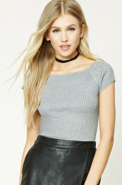 Ribbed Knit Top  at Forever 21