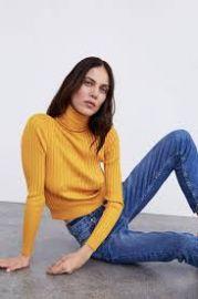 Ribbed Knit Turtleneck Sweater at Zara