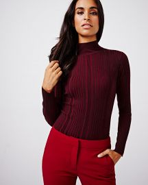 Ribbed Mock Neck Sweater at RW&CO.