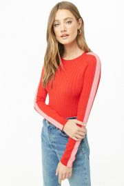 Ribbed Mock Neck Top at Forever 21