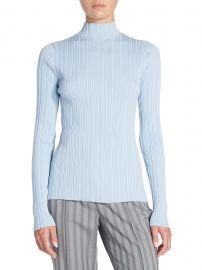 Ribbed Mockneck Sweater at Saks Fifth Avenue