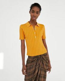 Ribbed Polo Shirt at Zara