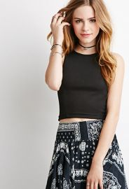Ribbed Racerback Crop Top  Forever 21 - 2002247664 at Forever 21