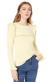 Ribbed Ruffle Sweater at Amazon