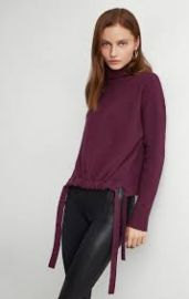 Ribbed Side-Tie Sweater at Bcbgmaxazria