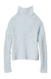 Ribbed Turtleneck Pullover by La Vie Rebecca Taylor at Rebecca Taylor