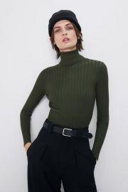 Ribbed Turtleneck Sweater by Zara at Zara