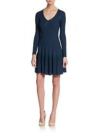 Ribbed fit and flare dress at Saks Off 5th