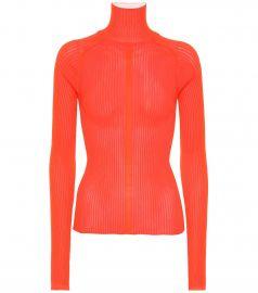 Ribbed-knit turtleneck sweater at Mytheresa