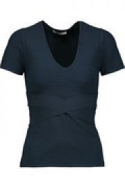 Ribbed stretch-knit top at The Outnet