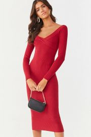 Ribbed sweater dress at Forever 21